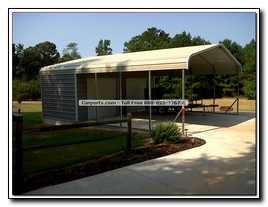 Carport with Utility Shed Pictures
